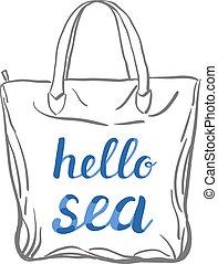 Hello sea lettering.