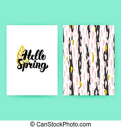 Hello Spring 80s Style Poster