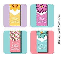hello spring design - hello spring design, vector...