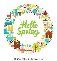 Hello Spring Flat Circle