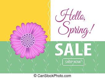 Hello spring sale banner