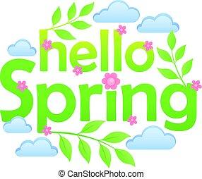 Hello spring theme image