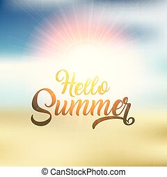 hello summer background design 2304
