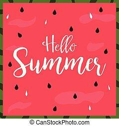 Hello Summer bright poster, banner