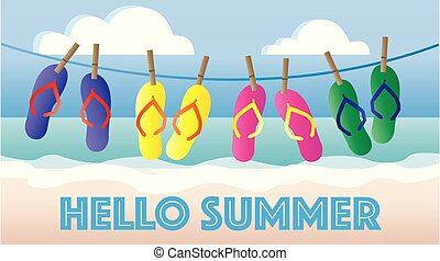 hello summer header banner picture