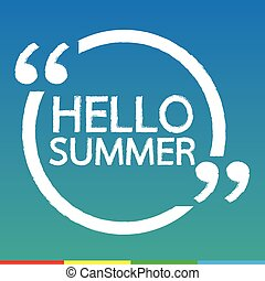 HELLO SUMMER Illustration design
