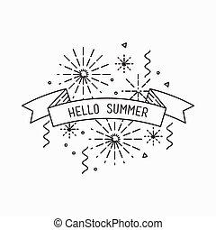 Hello summer. Inspirational vector illustration