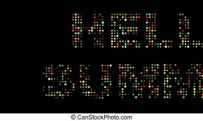 Hello summer led text