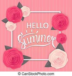 Hello Summer Natural Background Vector Illustration