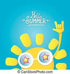 hello summer rock n roll poster. summer party design...