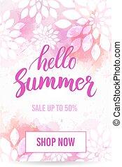 Hello summer sale banner