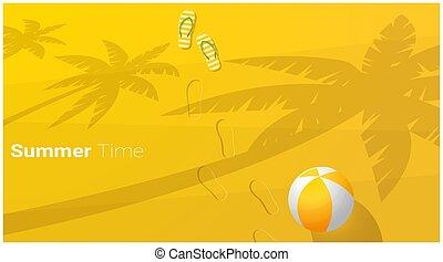 Hello Summer season background with beautiful tropical beach