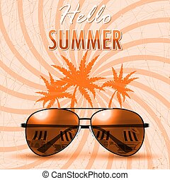 Hello Summer. Summer background/banner. Vector Illustration