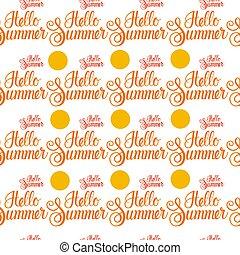 Hello Summer Sun Shine Seamless Pattern