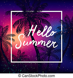 Hello Summer time  background
