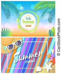 Hello Summertime 2018 Summer Mood Bright Cards