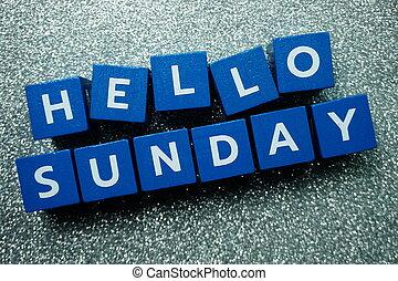 Hello Sunday alphabet letter