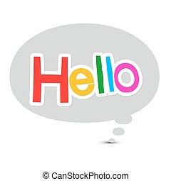 Hello Symbol in Speech Bubble