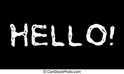 Hello text hand drawn animation