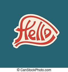 hello text lettering red characters