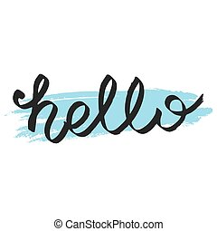 Hello vector sign isolated on white background