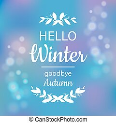 Hello winter card design
