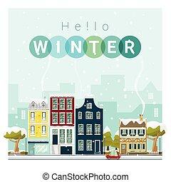 Hello Winter Cityscape Background 1