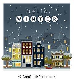 Hello Winter Cityscape Background 2