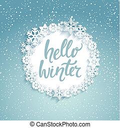 Hello winter Greeting Card. - Hello winter greeting card ...