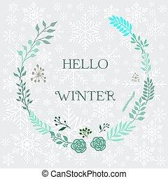 Hello Winter, Vector Background