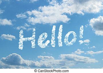 Hello word on cloud