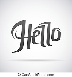 Hello word vector illustration