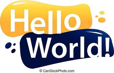 hello world illustration
