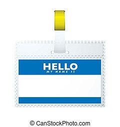 helloe, mijn, noem etiket