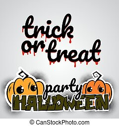 Helloween evil pumpkin voodoo doll pop art