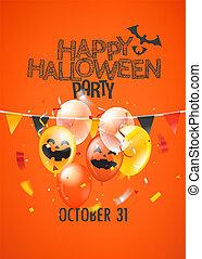 Helloween party vector banner