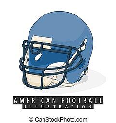 helm, amerikaan voetbal