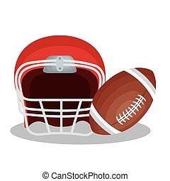 helm, amerikaan voetbal, pictogram