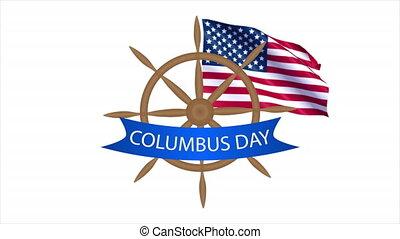 Helm for columbus day, art video illustration.