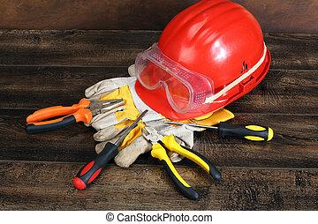 helm, gereedschap, hand