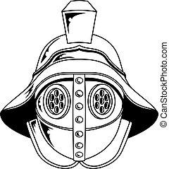 helm, gladiator, illustratie