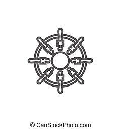 Helm line icon.