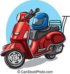 helm, motorroller, motorrad