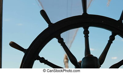 Helm of Old Sailing Ship