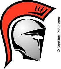 helm, spartan, pictogram