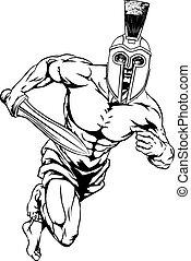 helm, strijder, spartan