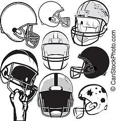 helm, voetbal, verzameling