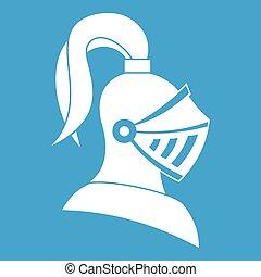 helm, witte , middeleeuws, pictogram