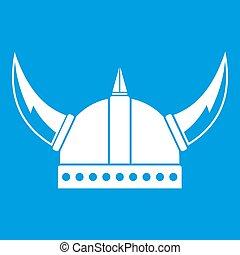 helm, witte , pictogram, viking