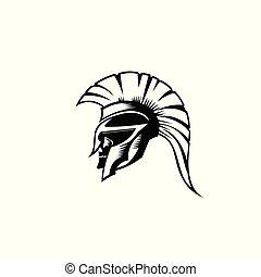helmat., griekse , spartan, romein, illustratie